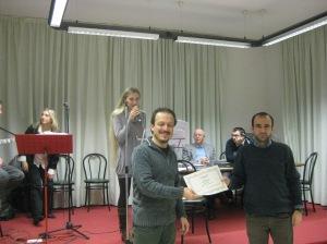Mario Bertasa premiato da Roberto Chiodo - 2011