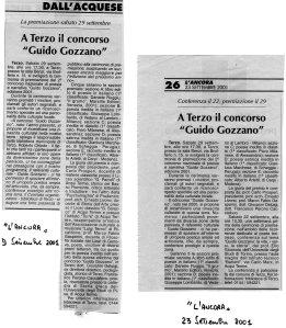 Secondo Concorso Guido Gozzano - 2001.