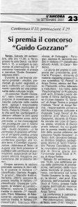 Secondo Concorso Guido Gozzano - 2001