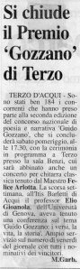 Articolo Massimo Garbarino  su Il Piccolo - seconda edizione 2001