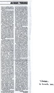 Seconda edizione - 2001 -  Articolo Francesco Perono Cacciafoco