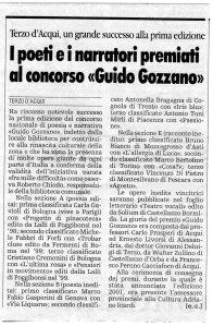 2000 - Prima edizione Concorso Gozzano - Articolo La Stampa