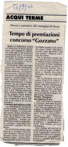 2002 - Terza Edizione Concorso Guido Gozzano