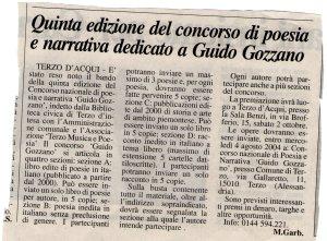 Quinta Edizione Concorso Gozzano - 2004