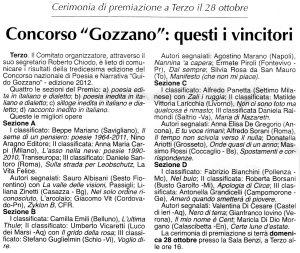 XIII Concorso Guido Gozzano - 2012