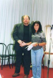 Giiorgio Pezzana direttore del Biella Festival e Giuliana Bosusco vincitrice sezione B - poesia inedita - 2004 - V° edizione