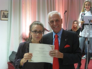 Adriano Icardi premia Irene Paganucci