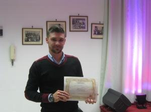 Alessandro Ghionna ritira il diploma