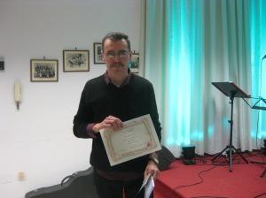 Sergio Gallo vincitore nella sezione C - silloge inedita