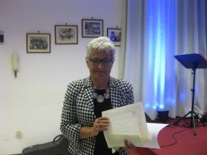 Rosa Romano seconda classificata nella sezione D - racconto inedito