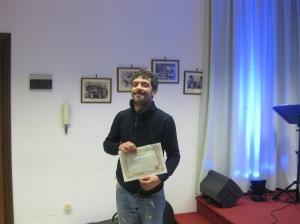 Il figlio di Gisella Pibiri ritira il premio